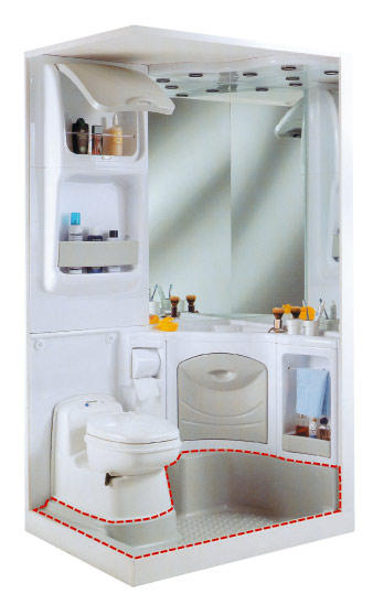 Acdc tous les accessoires pour votre camping car et for Salle de bain compacte